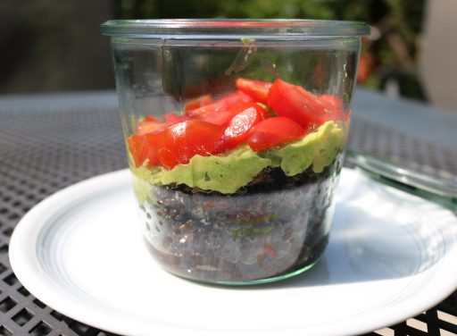 Variationen an Beluga-Linsen Salat